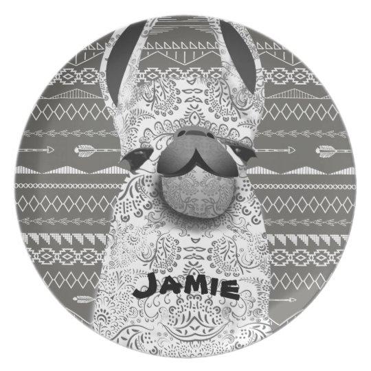 Personalized Mama Llama Plate
