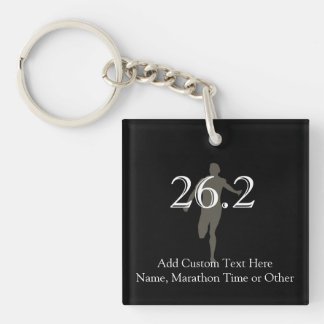 Personalized Marathon Runner 26.2 Keepsake Keychain