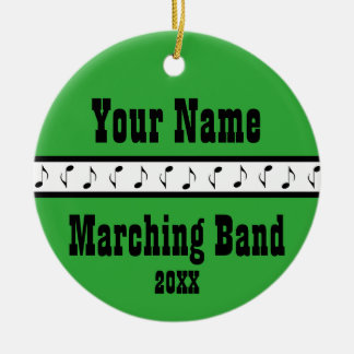 Personalized Marching Band Music Ornament Keepsake