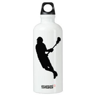 Personalized Mark Lacrosse Male Player Water Bottle
