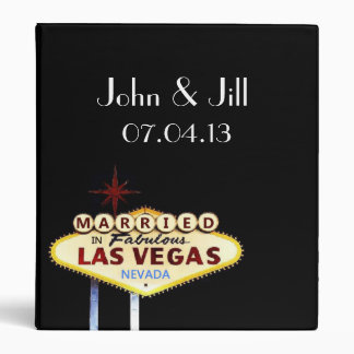 Personalized Married in Las Vegas Wedding Album Binders