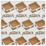 Personalized Marshmallow Camp Fire S'mores Smores Fabric