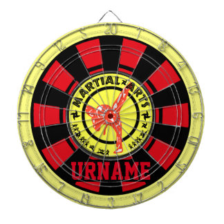 Personalized Martial Arts Dartboard With Darts