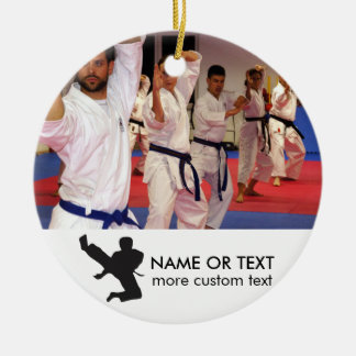 Personalized Martial Arts Karate Photo Christmas Ceramic Ornament