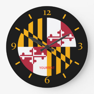 Personalized Maryland State Flag Design on Clock