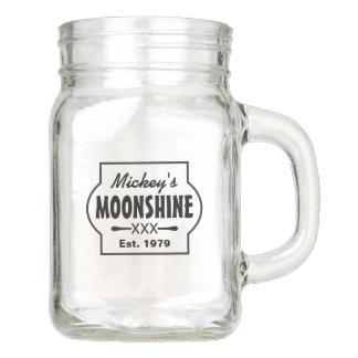 Personalized Mason Jar | Moonshine Glass