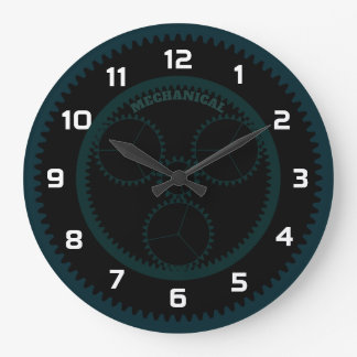 Personalized Mechanical Gear Large Clock