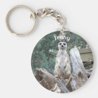 Personalized Meerkat Basic Round Button Keychain