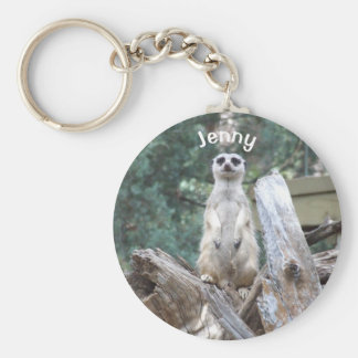 Personalized Meerkat Keychain