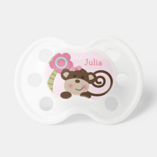 Personalized Melanie Monkey Girl Pacifier