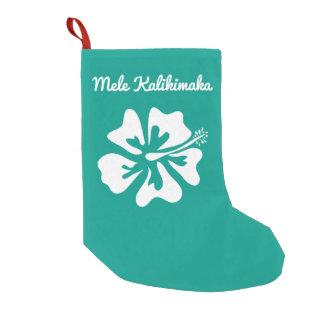 Personalized Mele Kalikimaka Hawaiian Holiday Small Christmas Stocking