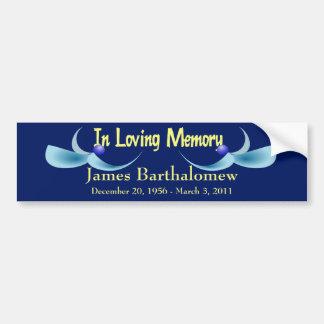 Personalized Memorial Bumper Sticker