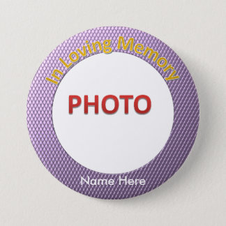 Personalized Memorial Photo 3 Inch Round Button