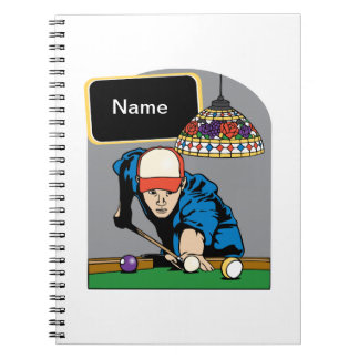 Personalized Mens Billiards Notebook