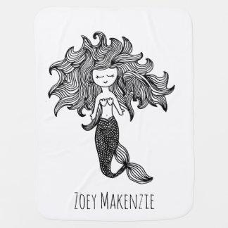 Personalized Mermaid Baby Blanket