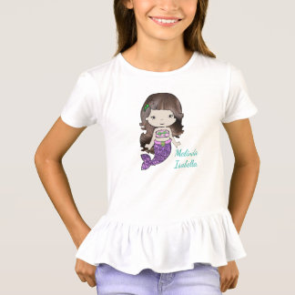 Personalized Mermaid Girls Shirt