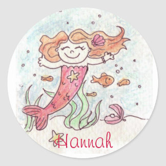 Personalized mermaid stickers