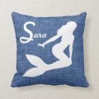 Personalized Mermaid Throw Pillow