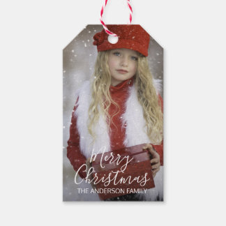 Personalized Merry Christmas | Add your PHOTO Gift Tags
