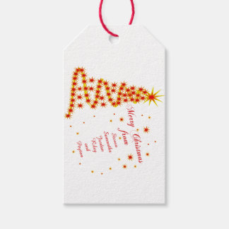 Personalized Merry Christmas from Gift Tags