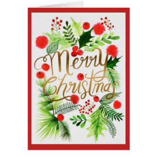 Personalized Merry Christmas Greeting Card