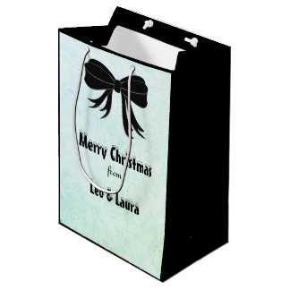 Personalized Merry Christmas Medium Gift Bag