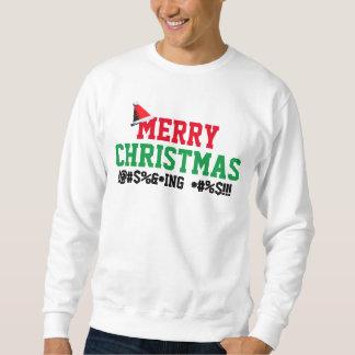 Personalized Merry Christmas Naughty Words Sweatshirt