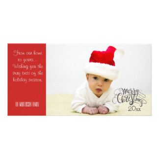 Personalized Merry Christmas Photo with Year Card