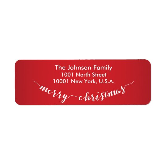 Personalized Merry Christmas Return Address Labels