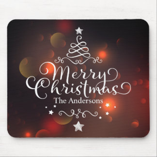 Personalized Merry Christmas Tree | Mousepad