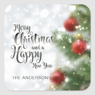 Personalized Merry Christmas Tree | Sticker Seal