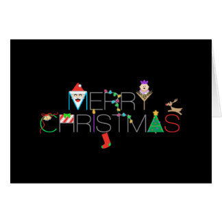 Personalized Merry Christmas Typography Photo Card