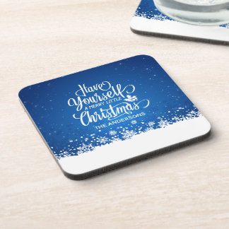 Personalized Merry Little Christmas | Coaster
