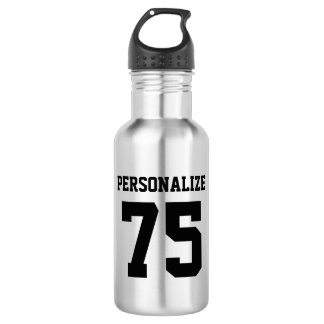 Personalized metal water bottles for sports teams