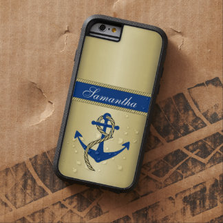 Personalized Metallic Gold Anchor Tough Xtreme iPhone 6 Case
