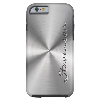 Personalized Metallic Radial Stainless Steel Look Tough iPhone 6 Case