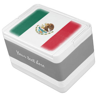 Personalized Mexican flag can cooler box | Mexico