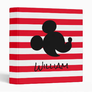 Personalized Mickey & Minnie Silhouette Binders