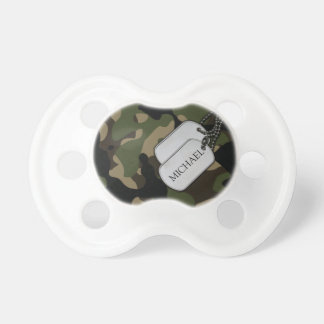 Personalized Military Camo Pacifier