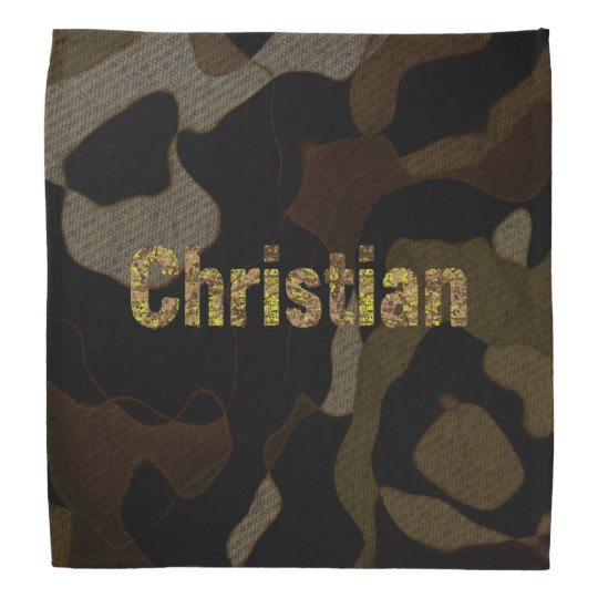 Personalized Military Camouflage Font Christian Bandanna