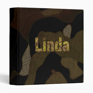 Personalized Military Camouflage Font Linda Binders