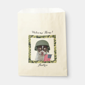 Personalized Military chihuahua dog treat bags