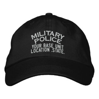Personalized Military Police Hat Baseball Cap