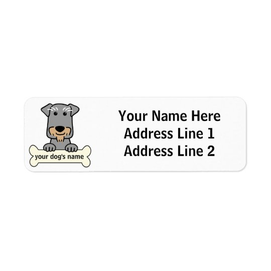 Personalized Miniature Schnauzer Return Address Label