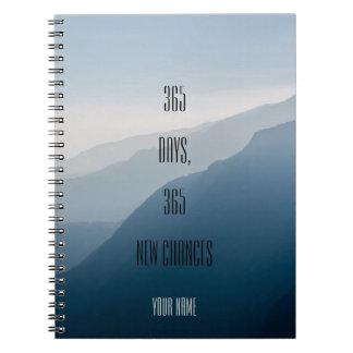 Personalized| minimalist| 365 days 365 new chances spiral note books