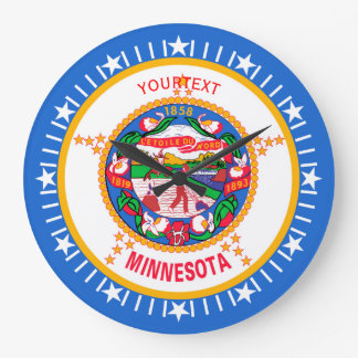 Personalized Minnesota State Flag Design on a Large Clock