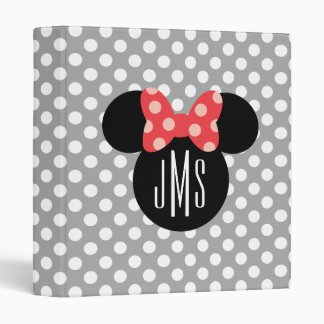 Personalized Minnie Polka Dot Head Silhouette Vinyl Binders