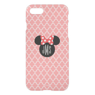 Personalized Minnie Quatrefoil Head Silhouette 2 iPhone 8/7 Case