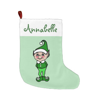 Personalized Mint Christmas Elf Stocking