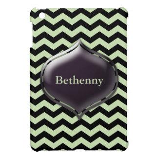 Personalized Mint Green Chevron Custom Color Case Cover For The iPad Mini